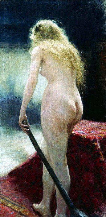 Model. 1895. Ilya Repin