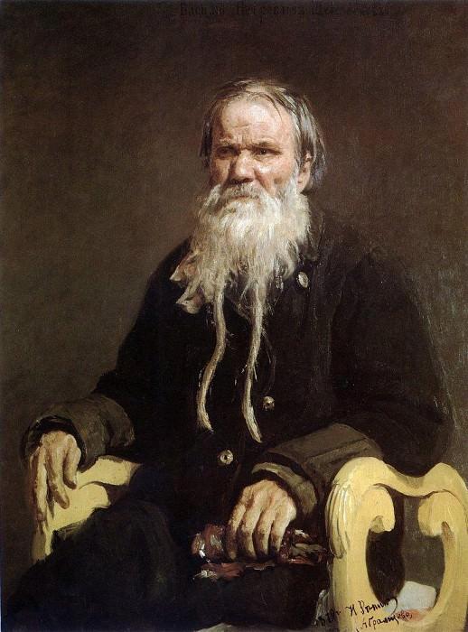 Portrait of the storyteller epics VP Schegolenkova. 1879. Ilya Repin