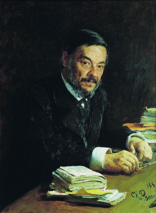 Portrait physiologist IM Sechenov. 1889. Ilya Repin