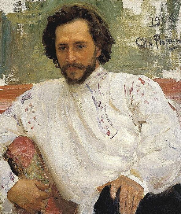 Portrait of Leonid Andreev. Ilya Repin