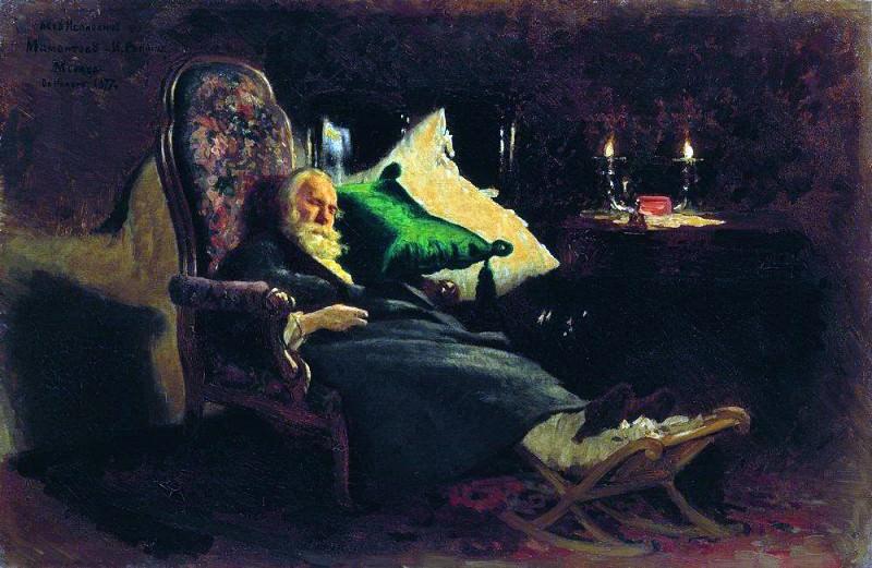 Death of Fyodor Vasilyevich Chizhova2. 1877. Ilya Repin