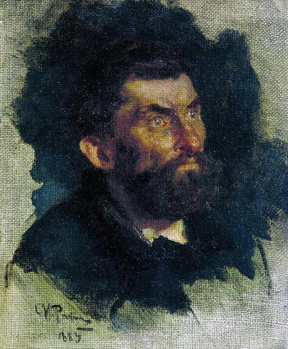 Head of a Man. 1885. Ilya Repin