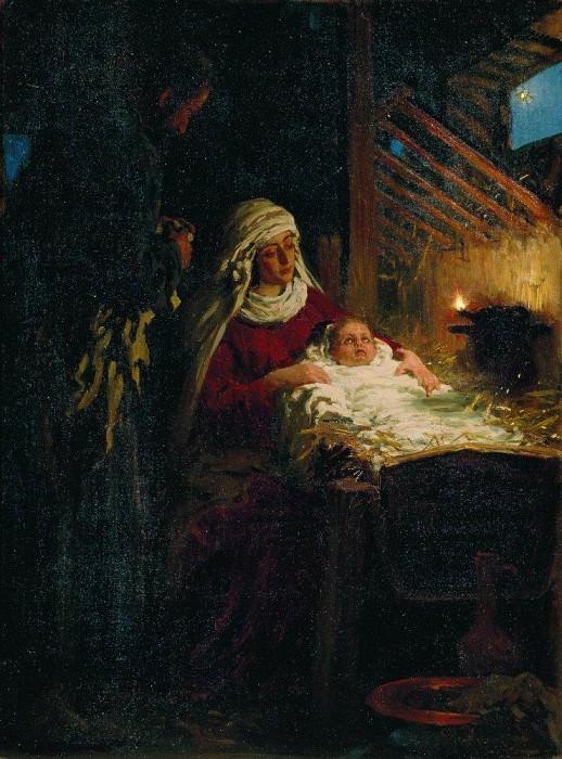 Christmas. 1890. Ilya Repin
