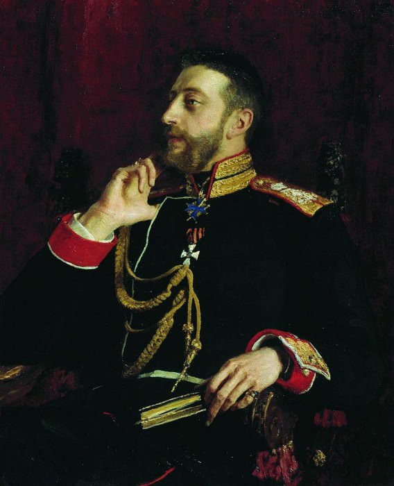 Portrait of the poet of the Grand Duke Konstantin Konstantinovich Romanov. 1891. Ilya Repin