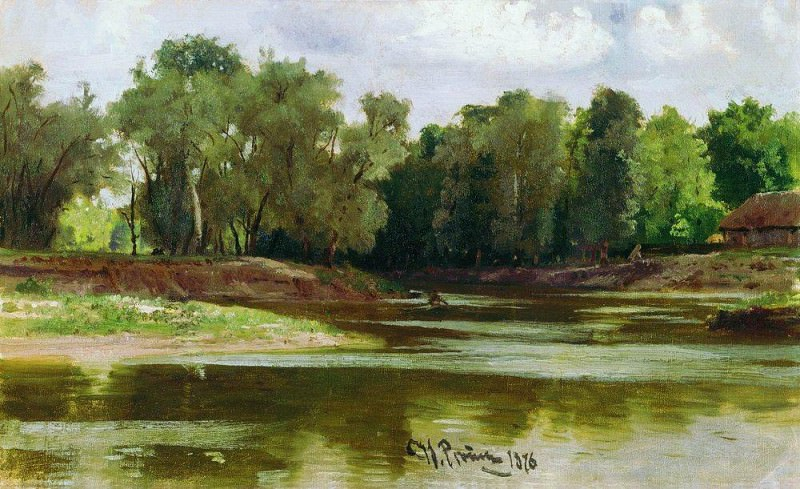 River Bank. 1876. Ilya Repin