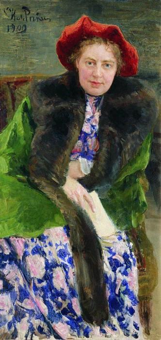 Portrait of Hope Bori Nordman Severova. 1909. Ilya Repin