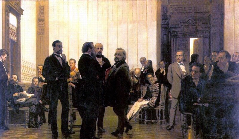 Slavic composers (Collection of Russian, Polish and Czech musicians). 1872. Ilya Repin