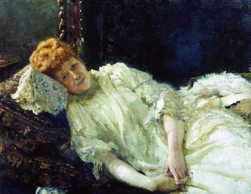 Portrait of pianist Countess Louise Mercy dArgenteau. 1890. Ilya Repin