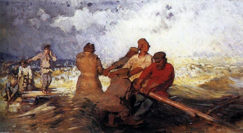 Storm on the Volga. 1870-1891. Ilya Repin