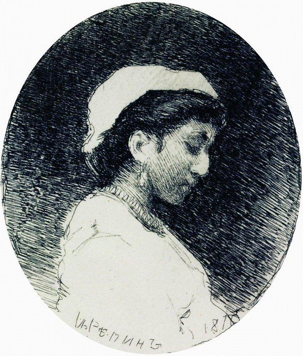 Woman in a bonnet. Ilya Repin