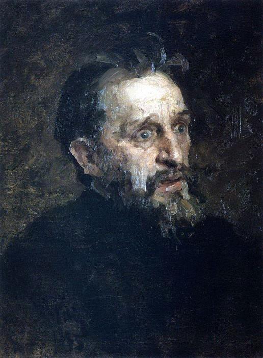 Mens head. 1883. Ilya Repin