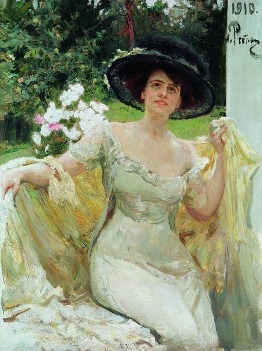 Portrait of Bella Highland. 1910. Ilya Repin