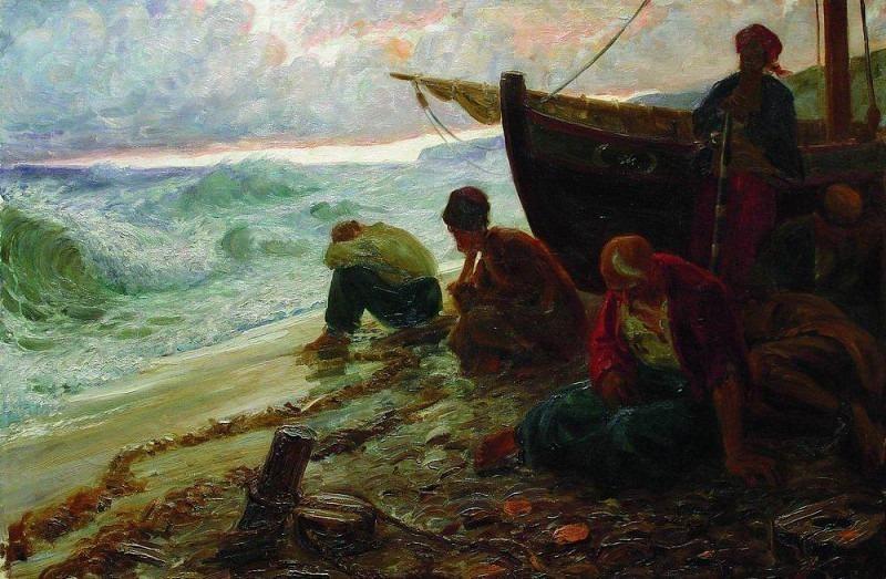 End of the Black Sea freemen. 1900 e. Ilya Repin