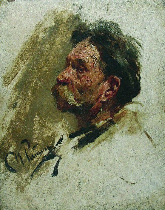 Portrait of a peasant. 1880. Ilya Repin