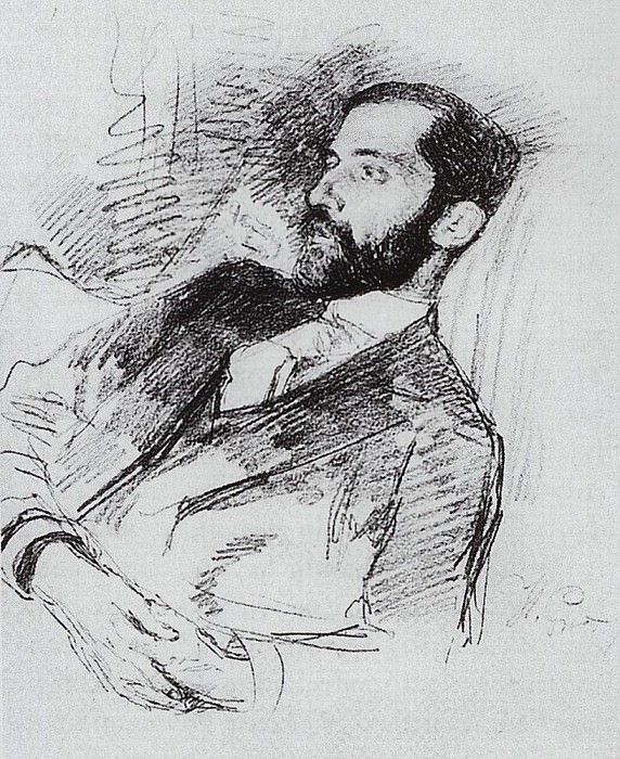 Portrait of Dmitry Merezhkovsky. Circa 1900. Ilya Repin