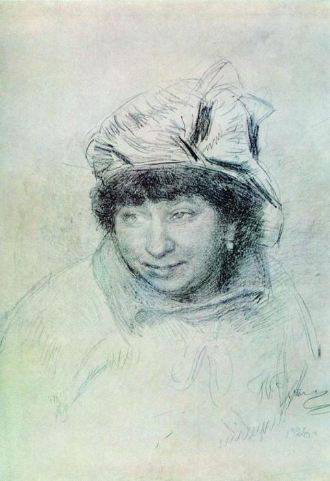 Portrait of Vera Repino. 1925. Ilya Repin