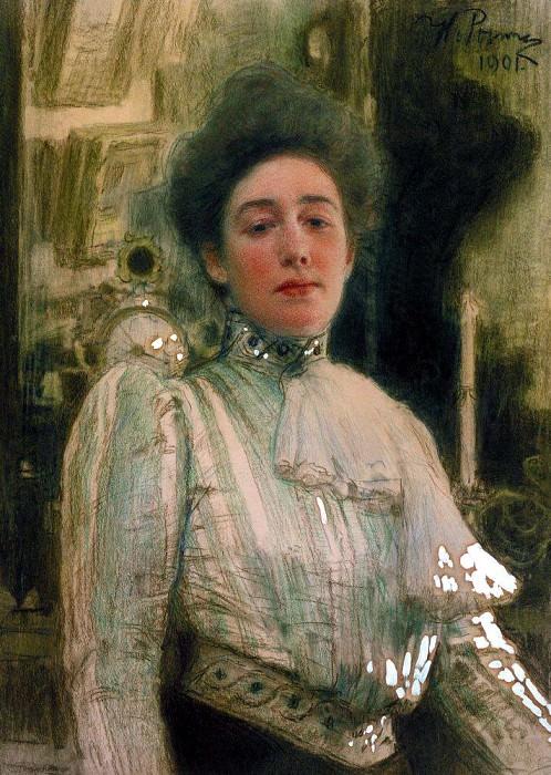 Портрет Александры Павловны Боткиной. 1901. Илья Ефимович Репин