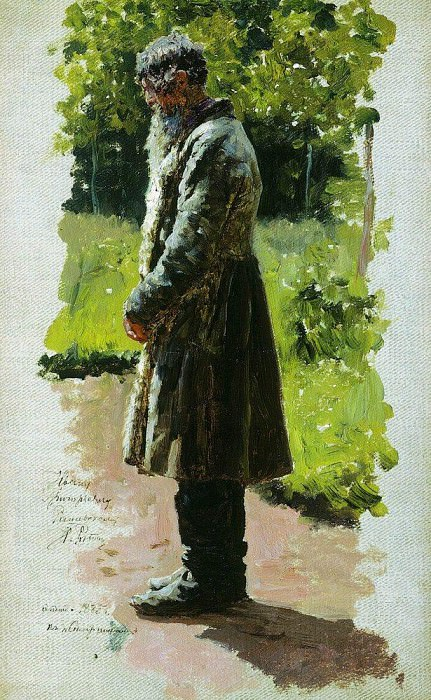 Old farmer. 1885. Ilya Repin