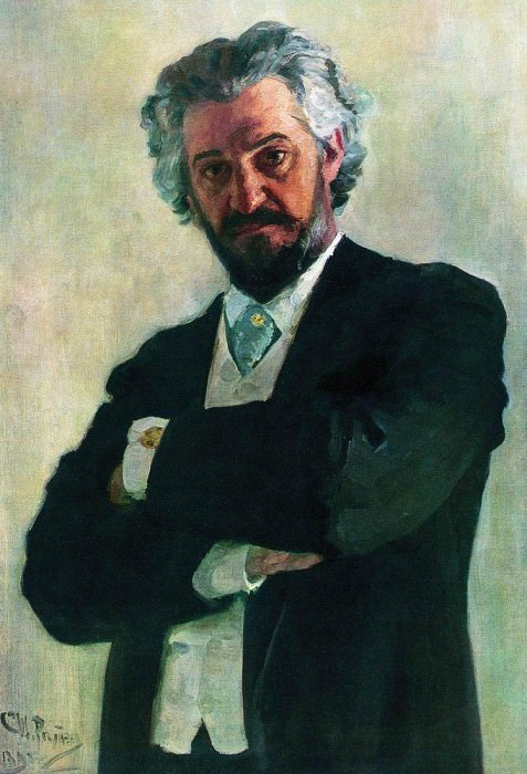Portrait of a cellist AV Verzhbilov. 1895. Ilya Repin