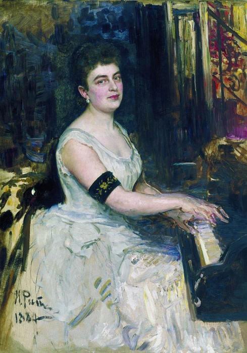 Portrait of pianist MK Benoit. 1887. Ilya Repin