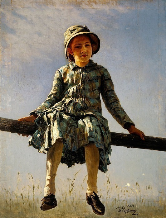 Dragonfly (Painter's daughter portrait) 1884. Ilya Repin