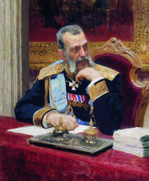 Portrait of Vladimir. 1910. Ilya Repin