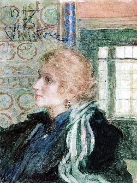 Portrait of Mary Klopushinoy. 1925. Ilya Repin