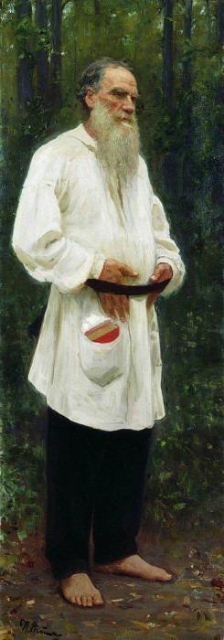 LA Tolstoy barefoot. 1901. Ilya Repin