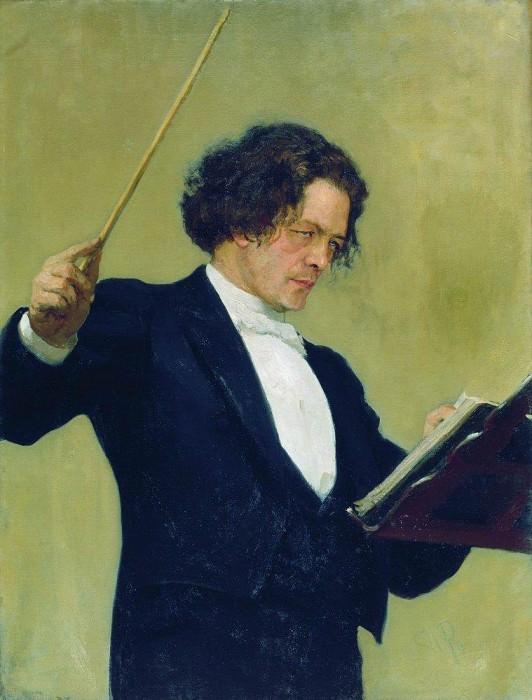 Портрет композитора А. Г. Рубинштейна. 1887. Илья Ефимович Репин