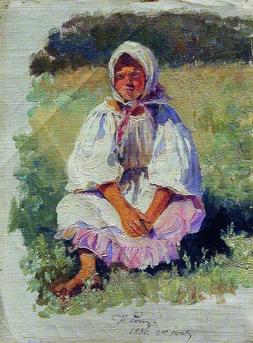 Крестьянская девочка. 1880. Илья Ефимович Репин