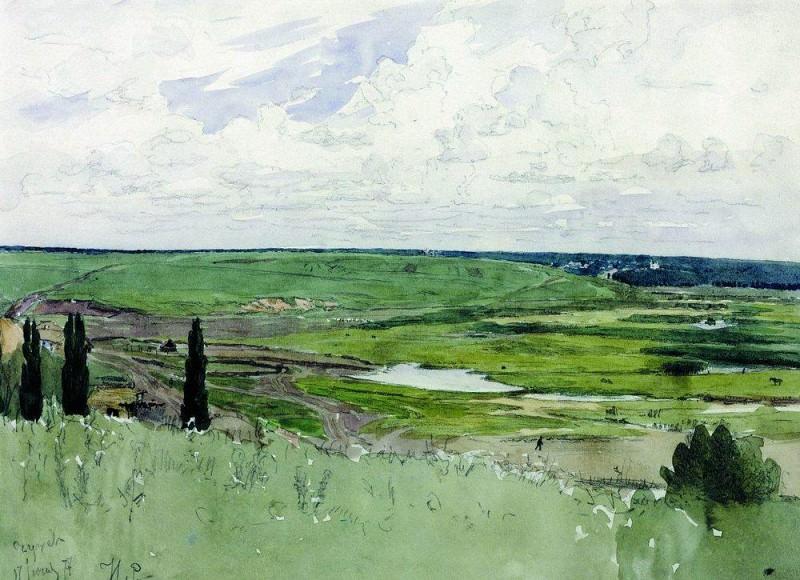 Landscape under Chugueva. Ilya Repin