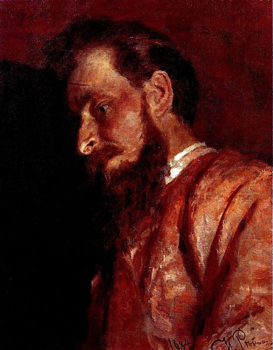 Portrait of VK Muench. 1884. Ilya Repin