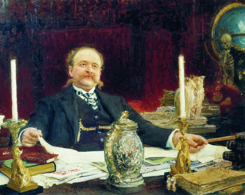 Portrait VV Bitner. 1912. Ilya Repin