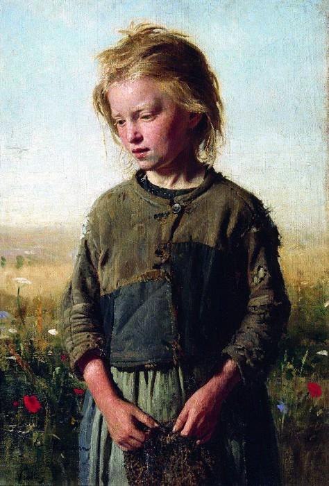 Нищая (Девочка-рыбачка). Вёль. 1874. Илья Ефимович Репин