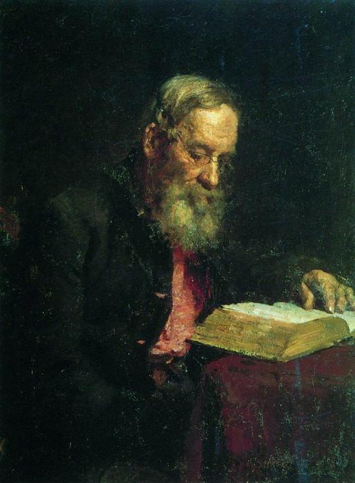 Portrait of the artists father, E. Repin. 1879. Ilya Repin