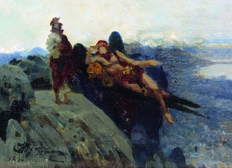 Temptation of Christ. 1896. Ilya Repin