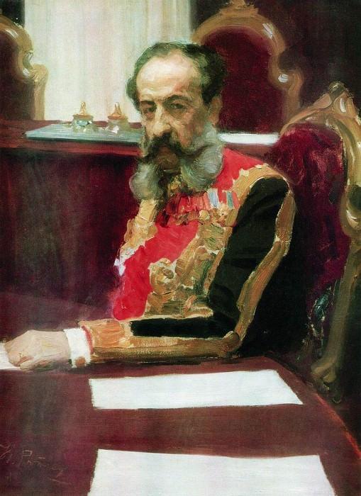 Portrait of Prince Mikhail Sergeyevich Volkonsky. 1903. Ilya Repin
