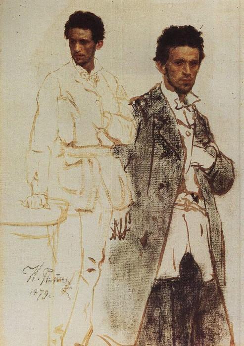 NA H. Wentzel. 1879. Ilya Repin