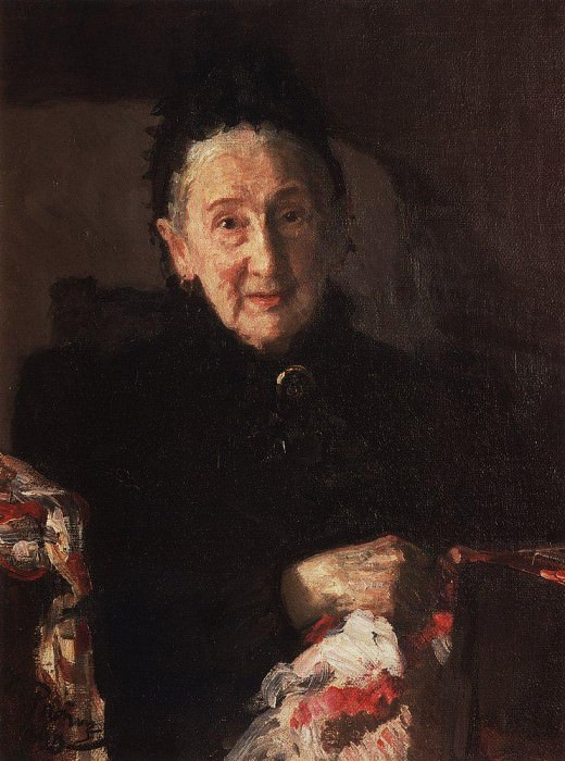 Portrait of LI Shestakova, sister of the composer Mikhail Glinka. 1899. Ilya Repin