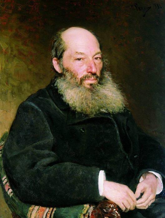 Portrait of the poet A. Fet. 1882. Ilya Repin
