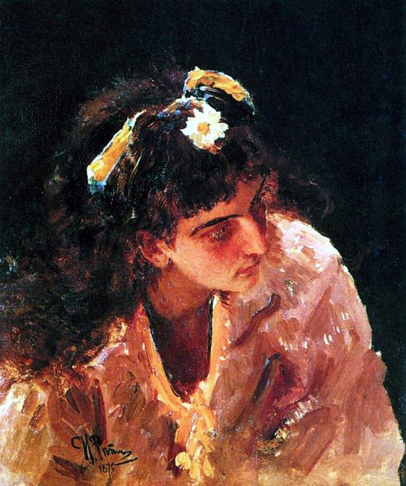 Head of Indian beauties. 1875. Ilya Repin