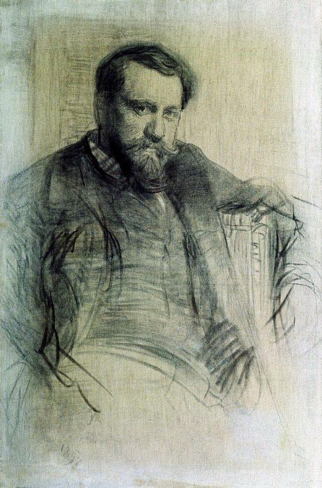 Portrait of the artist Valentin Serov. 1897. Ilya Repin