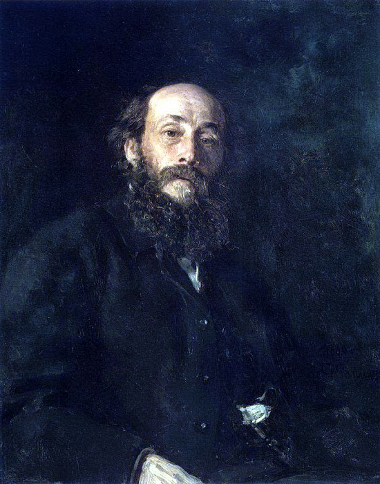 Portrait of the artist Nikolai Ge. 1880. Ilya Repin