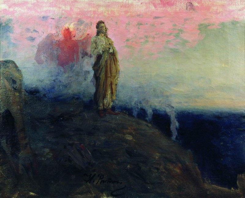 Go behind me, Satan (temptation of Christ). 1901-1903. Ilya Repin