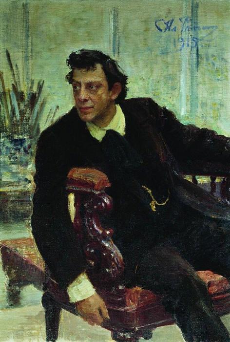 Portrait artist P. Samoilov. 1915. Ilya Repin