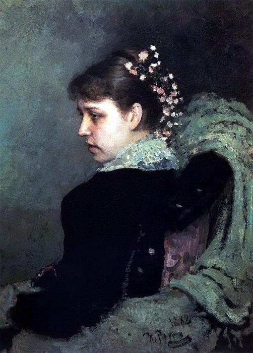 Portrait TA Mamontovaya (Raczynski). 1882. Ilya Repin