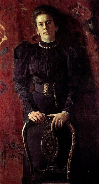 Portrait of T. Tolstoy. 1893. Ilya Repin
