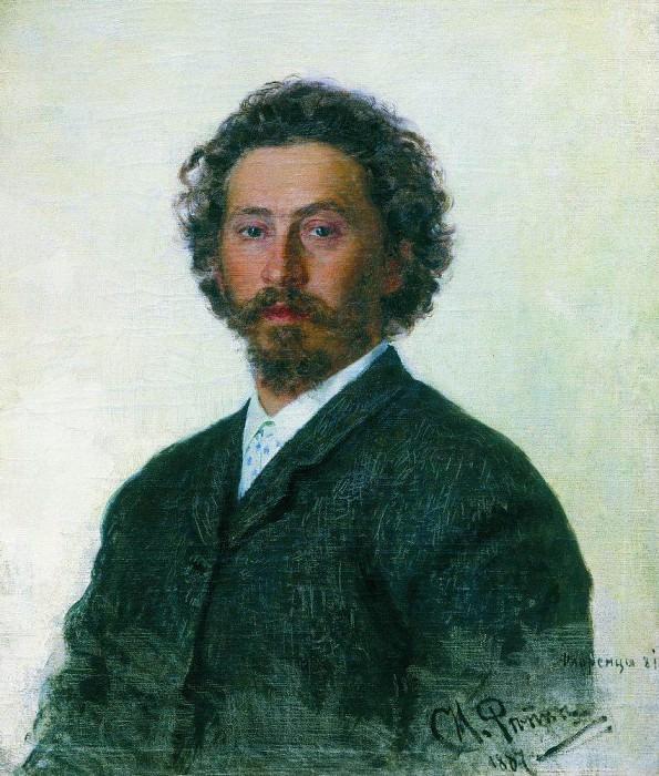 Self-portrait. 1887. Ilya Repin