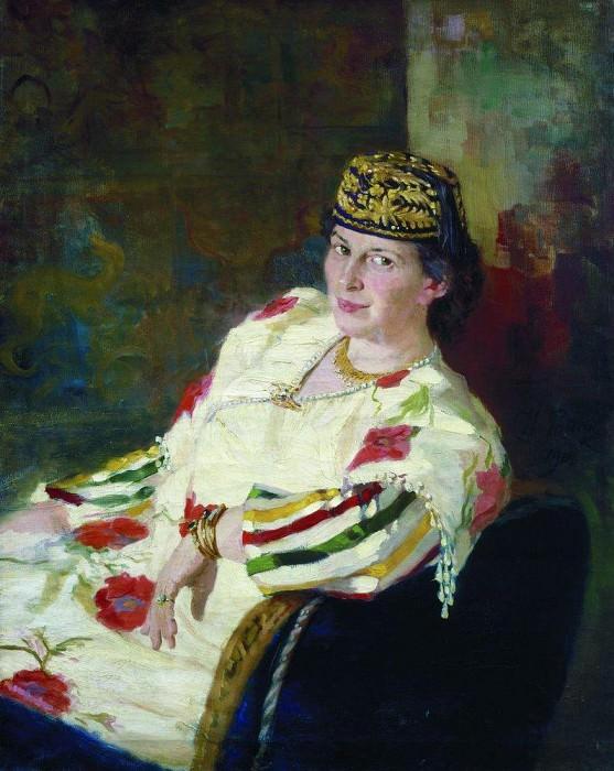 Portrait of MK Olive. 1906. Ilya Repin