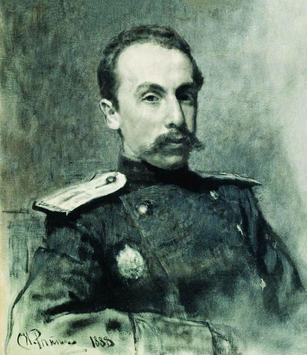 Portrait AV Zhirkevicha. 1888. Ilya Repin
